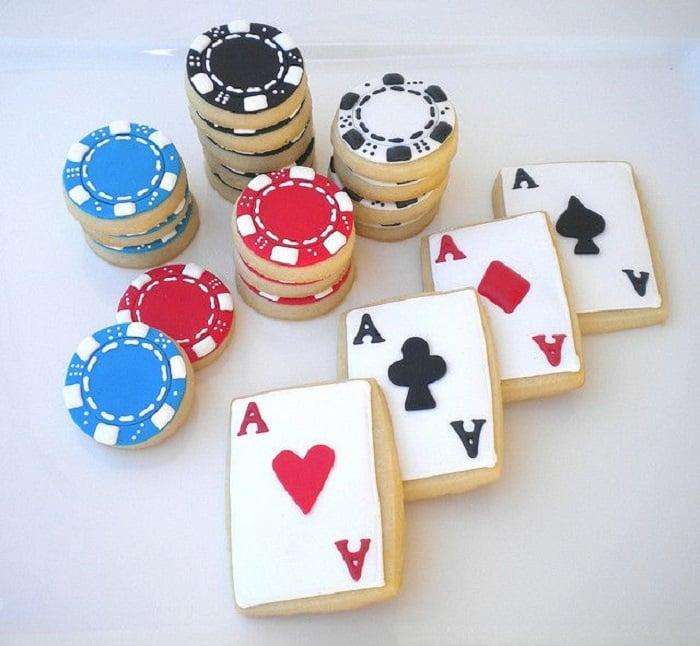 Galletas decoradas para el Día del padre de juego de poker