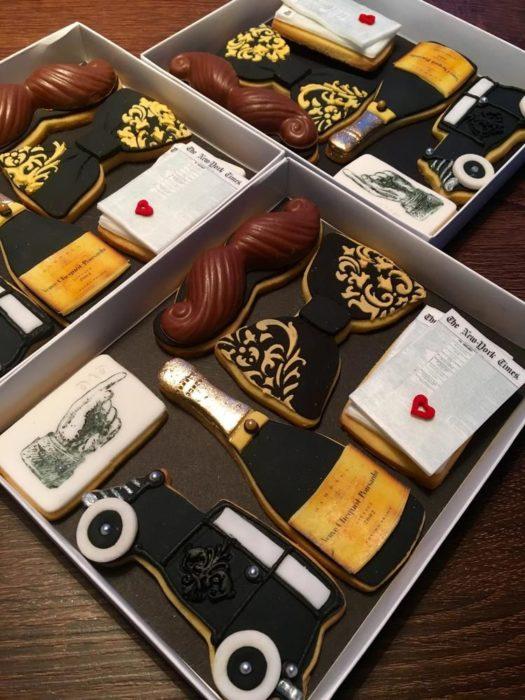 Galletas decoradas para el Día del padre de kit de papá elegante
