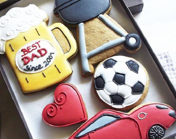 Galletas decoradas para el Día del padre de kit de día de carne asada o día de partido de futbol