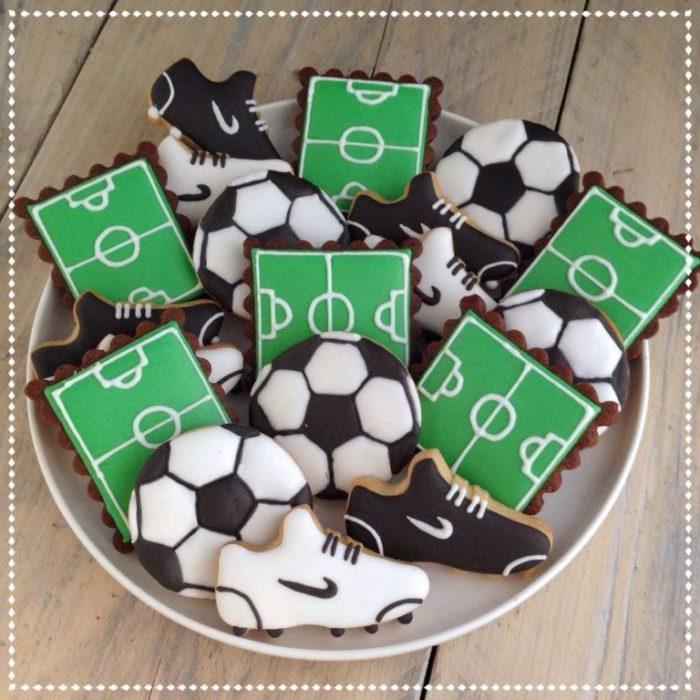 Galletas decoradas para el Día del padre de canchas de futbol y balones