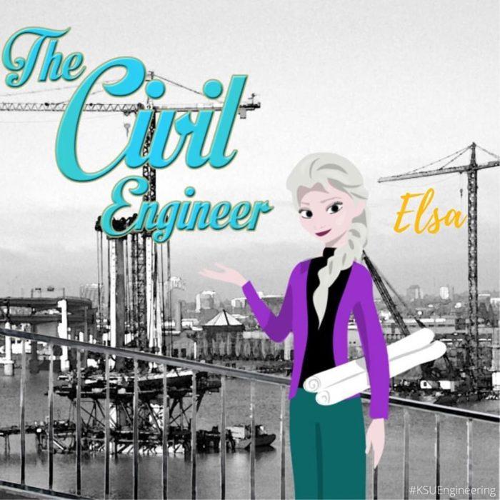 Elsa sería ingeniera civil