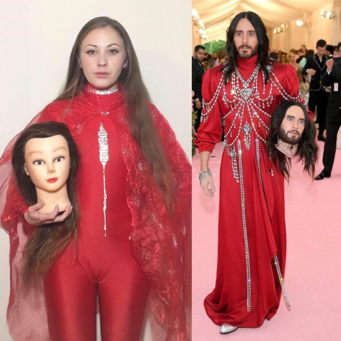 Personas recreando looks famosos en la Met Gala