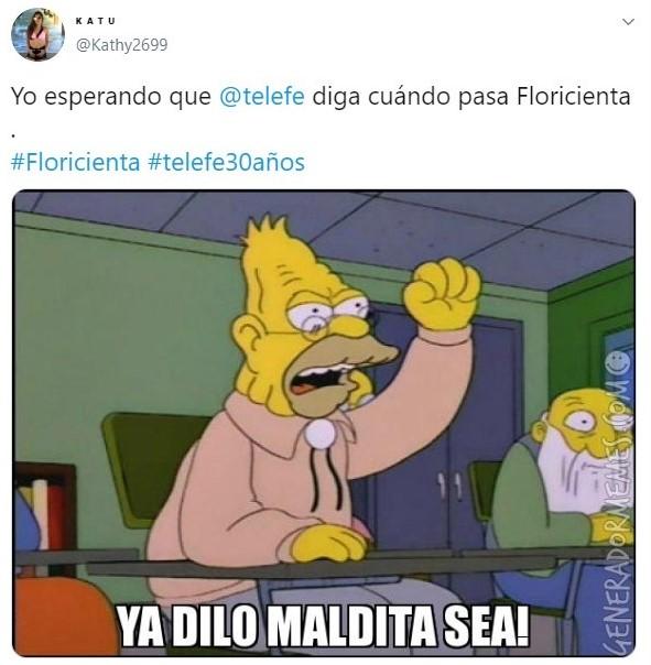 Tuit sobre el regreso de Floricienta a la televisión