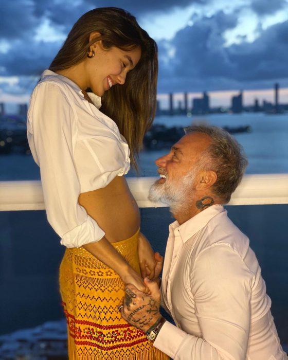 Gianluca Vacchi y Sharon Fonseca esperan a su primer hijo