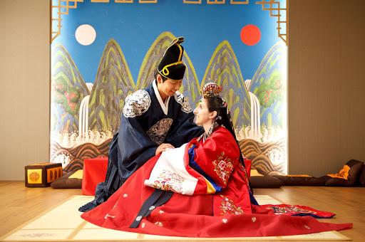 Vestimenta tradicional Hanbok de boda coreana