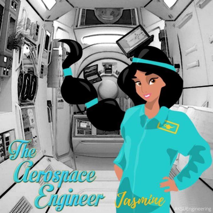 Jasmin sería ingeniera aeroespacial