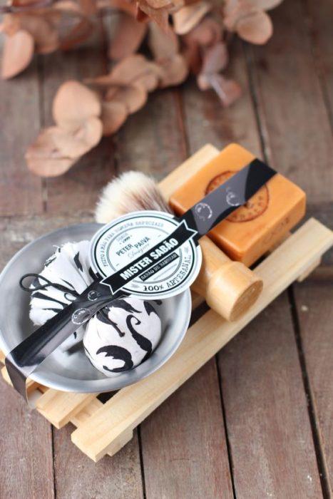 Kit de barbería para hombre con espuma y cepillo facial