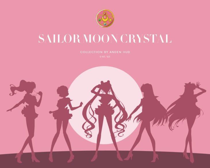 Poster promocional de la lencería de Sailor Moon Crystal
