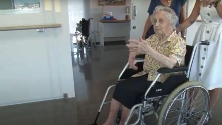 María en silla de ruedas