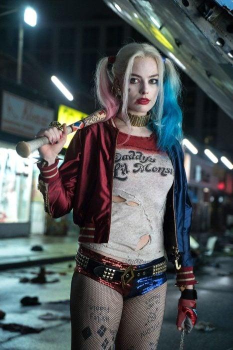Margot Robbie en la película Escuadrón Suicida