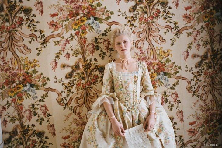 Kirsten Dunst en la película Maria Antonieta