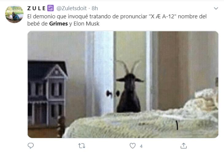 Memes de X AE A-12 hijo de Grimes y Elon Musk