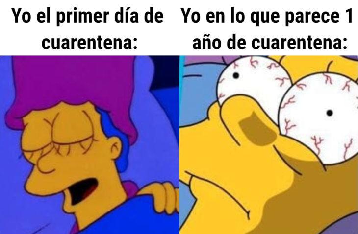 Memes de insomnio en la cuarentena; Marge, Los Simpson