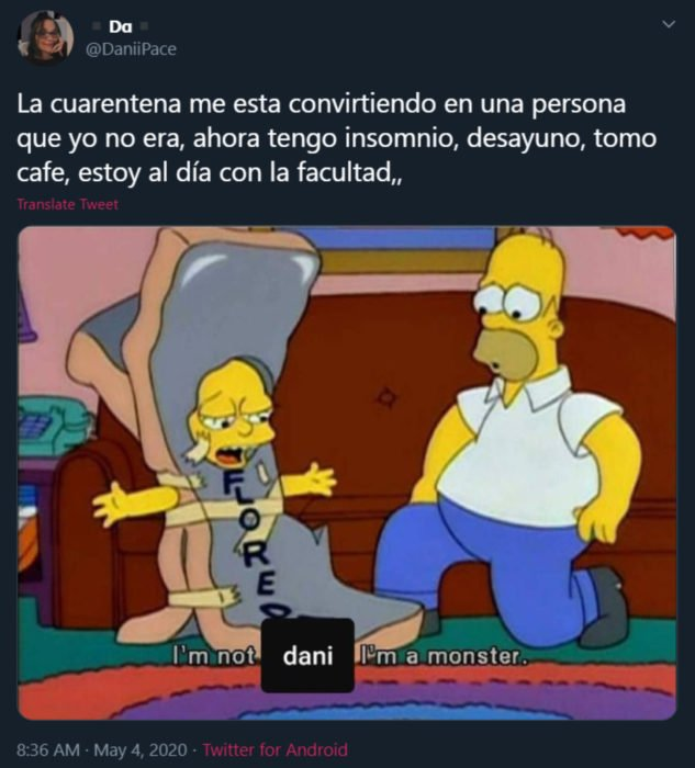 Memes de insomnio en la cuarentena; Los Simpson, Homero y Lisa