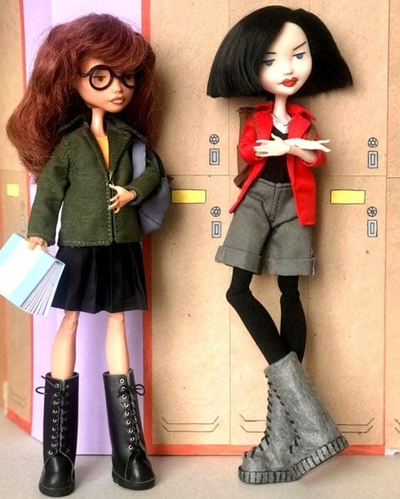 Artista rusa Arty Ooak Dolls tranforma muñecas Monster High en personajes de caricaturas y películas; Daria Morgendorffer y Jane Lane