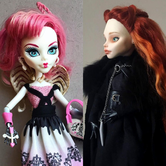 Artista rusa Arty Ooak Dolls tranforma muñecas Monster High en personajes de caricaturas y películas; Sansa Stark, Game of thrones