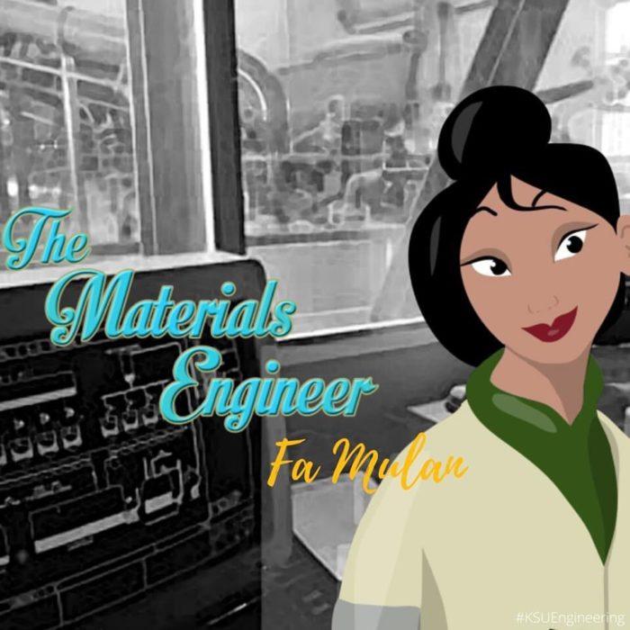 Mulan sería ingeniera en materiales