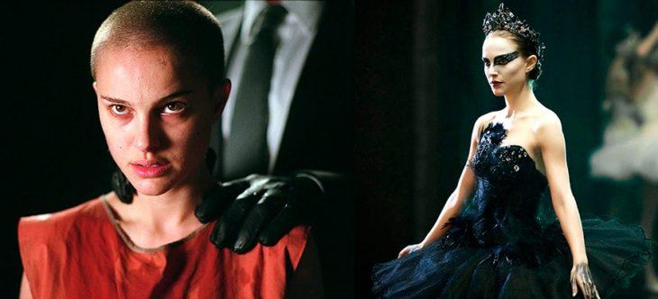 Actuación de Natalie Portman en las películas de V de venganza y El cisne negro