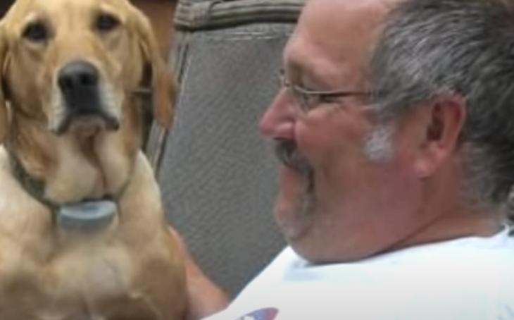 Daniel Hove y su perro Gunner