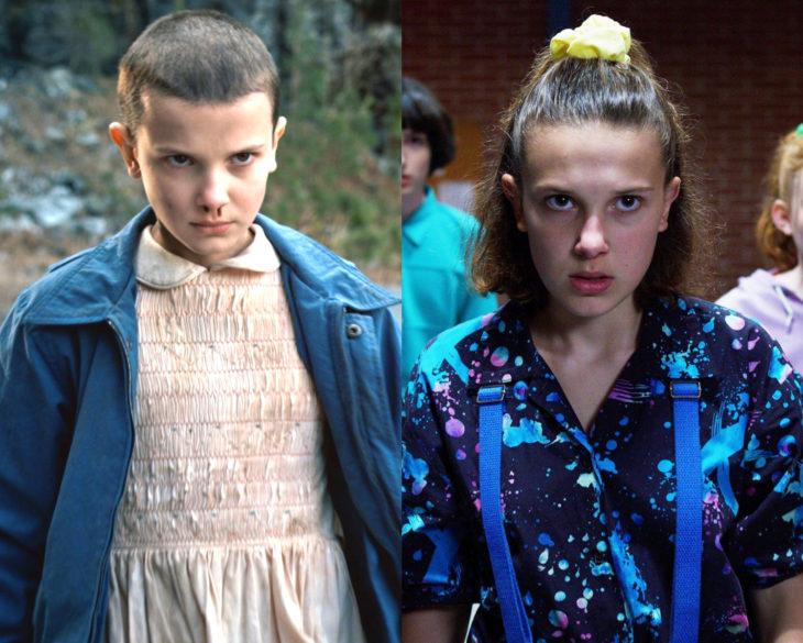 Personajes de series en su primer y última temporada; Once, Eleven, Stranger Things
