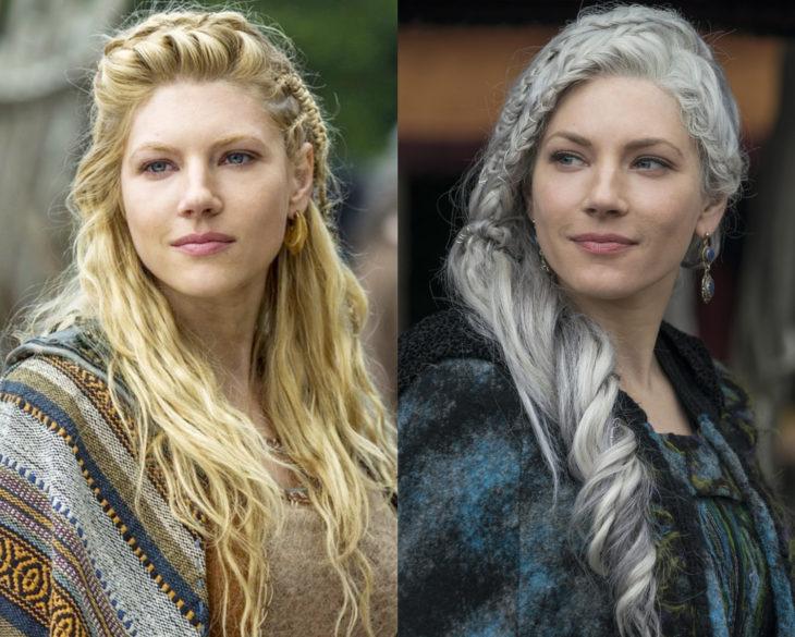 Personajes de series en su primer y última temporada; Lagertha, Vikings, Vikingos