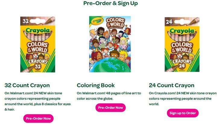 Línea completa de Colores del mundo de Crayola