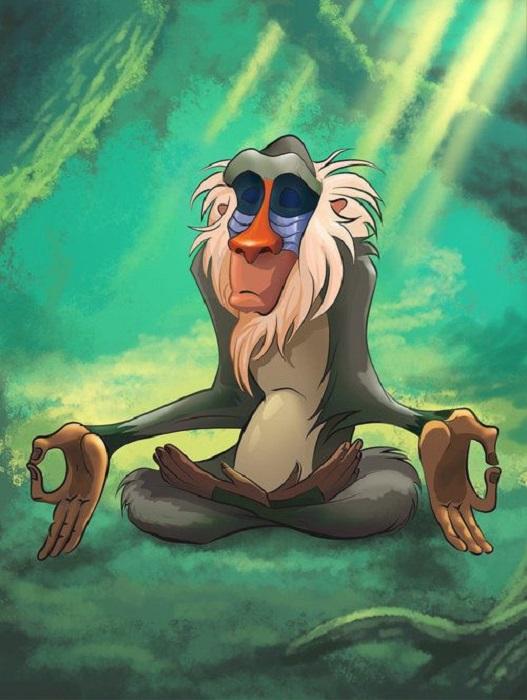 Rafiki meditando