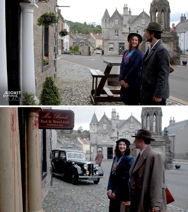 Pareja recrea escenas de películas en lugares en que fueron filmadas