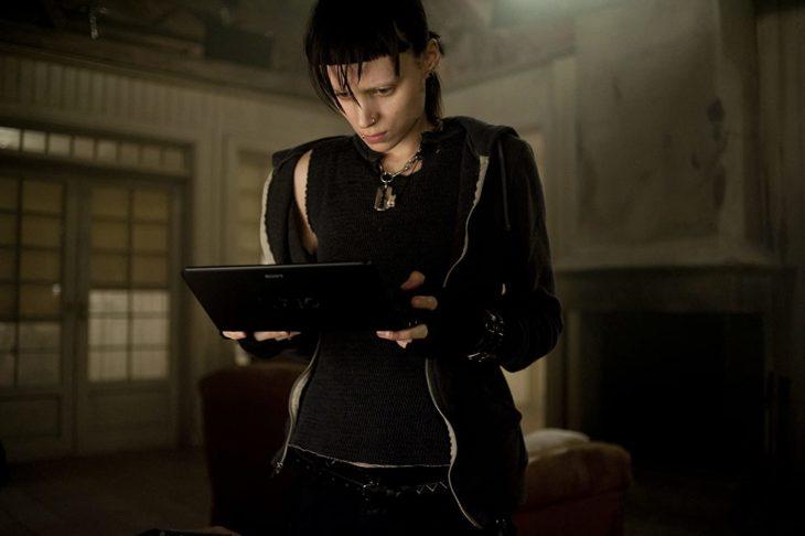 Actuación de Rooney Mara en la película de La chica del dragón tatuado