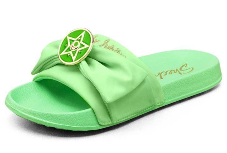 Skechers lanza línea de sandalias y ropa de Sailor Moon; zapatos verdes de Júpiter, Lita