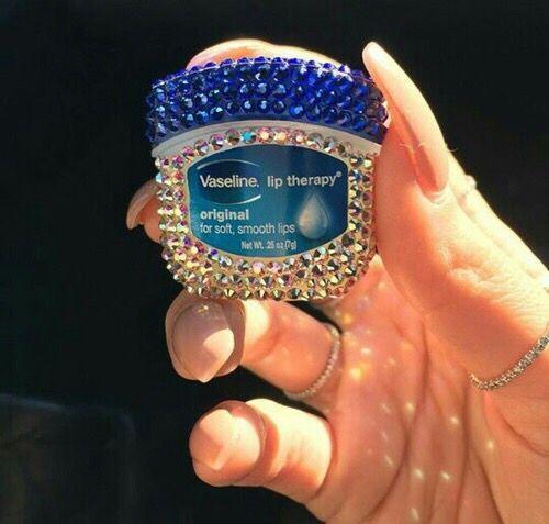 Vaselina mini con diamantes