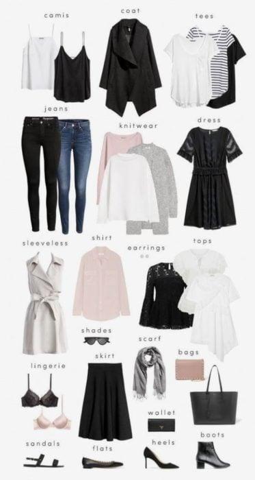 Guía de prendas básicas de armario