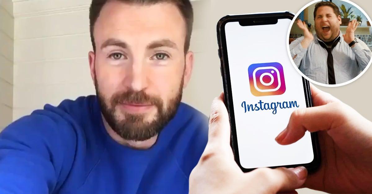 ¡No es un simulacro! Chris Evans ya tiene Instagram y la razón te hará enamorarte más