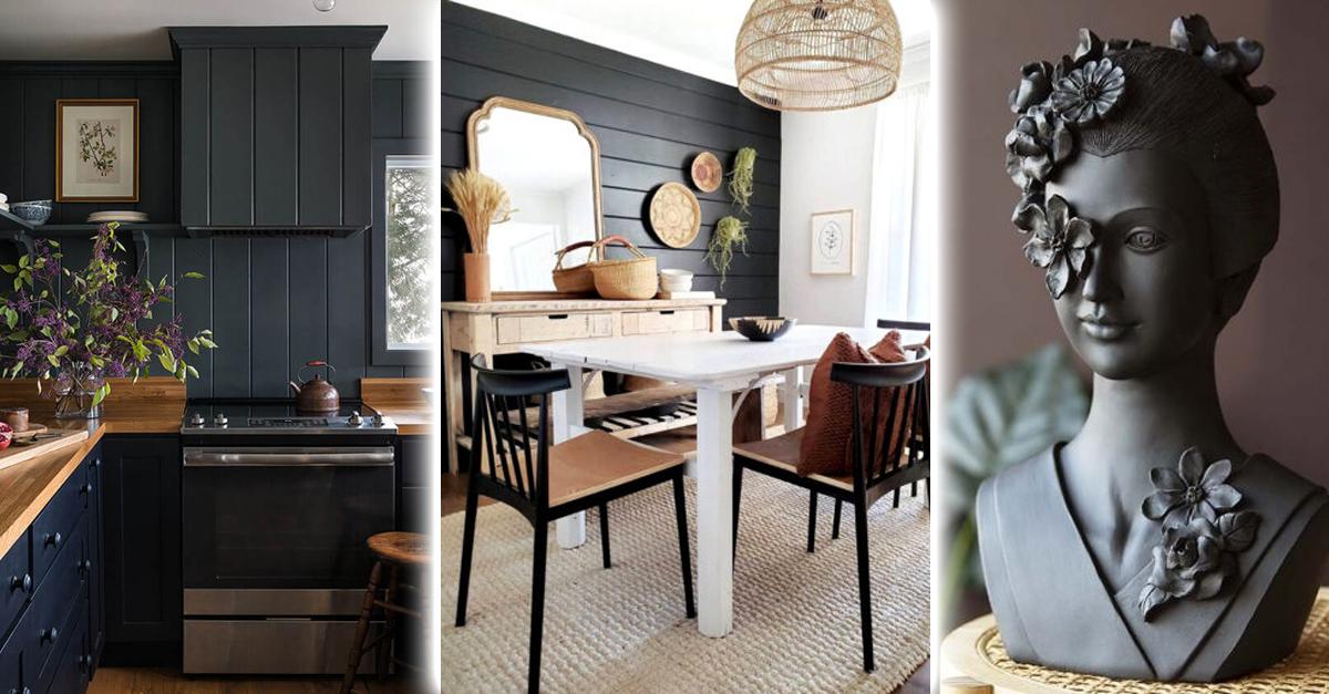 14 Maneras para decorar tu casa de negro sin que se vea tenebrosa