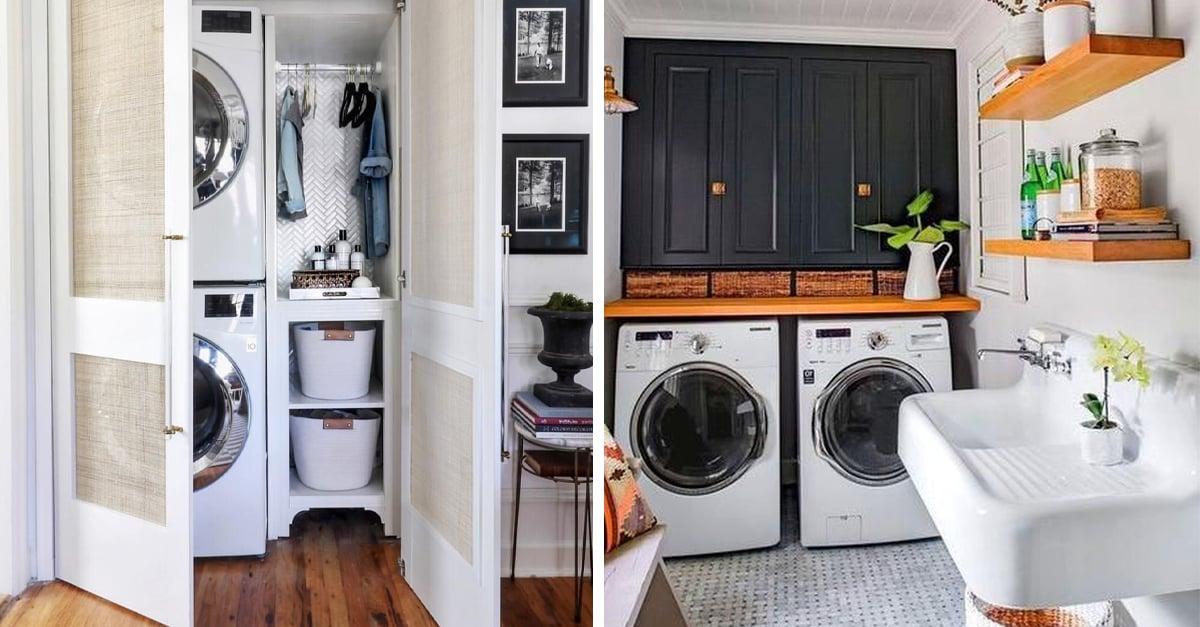15 Formas de decorar tu cuarto de lavado