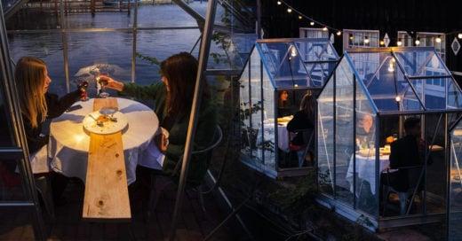 Restaurante holandés instala mesas aisladas para respetar la distancia social
