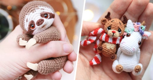 Artista teje diminutos animalitos que son enormemente bellos