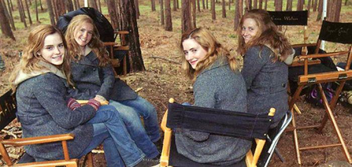 Dobles de Emma Watson en las diferentes filmaciones de las películas de la saga