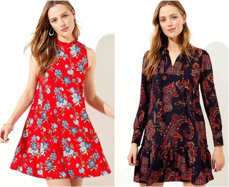 Chicas llevando vestidos en corte A