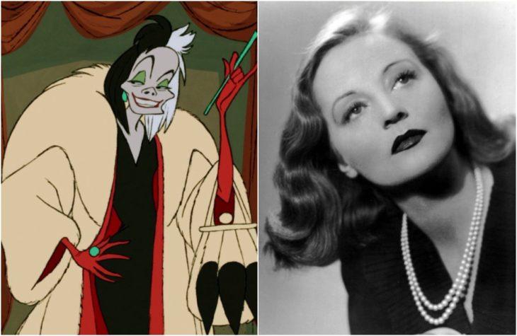 Cruella de Vil, villana películas Disney, Inspirada en la actrizTallulah Bankhead