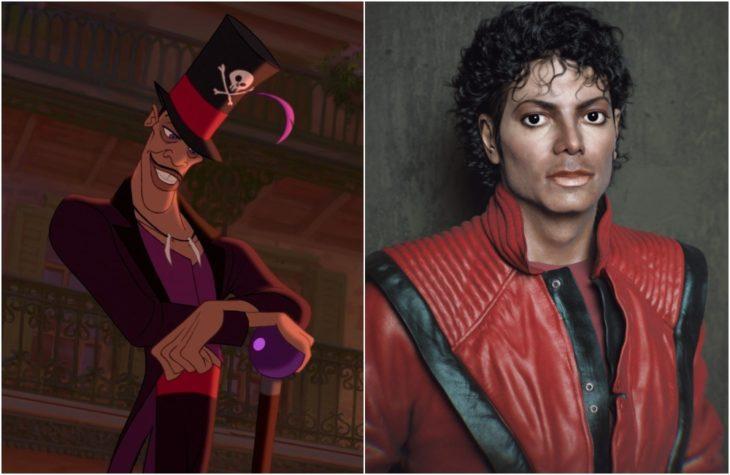 Dr. Facilier, villano de la película de Disney lLa princesa y el sapo, Inspirado en el cantateMichael Jackson