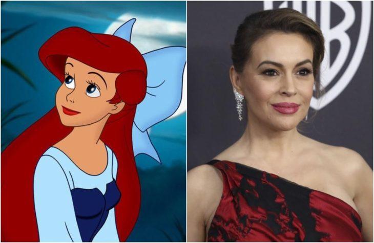 Ariel de la película de Disney La sirenita Inspirada en la actrizAlyssa Milano