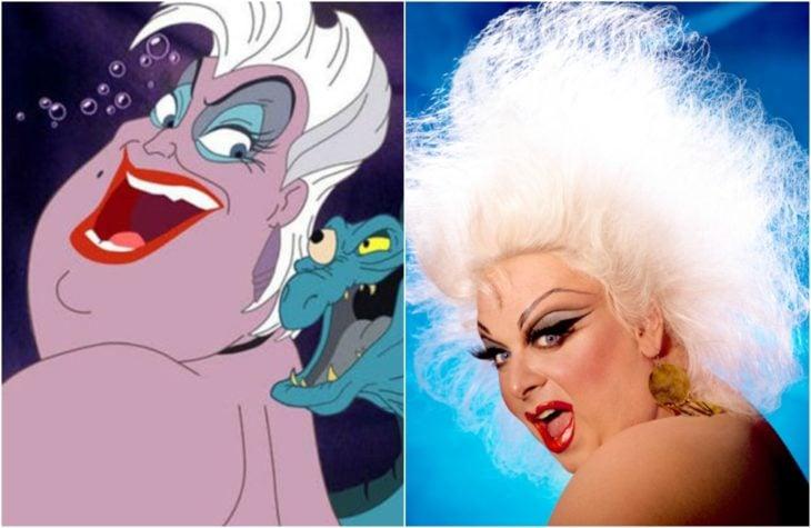Úrsula, villana de la película de Disney La sirenita Inspirada en el drag queenDivine