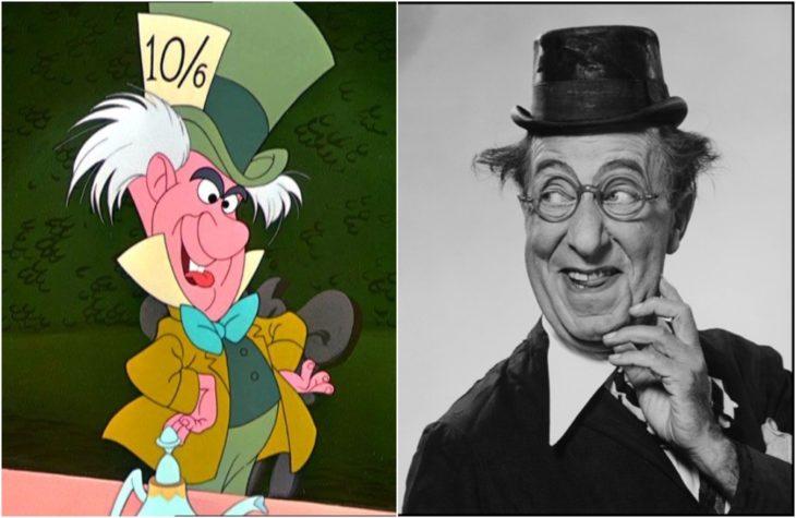 El sombrerero loco de la película de Disney Alicia en el país de las maravillas Inspirado en el actorEd Wynn