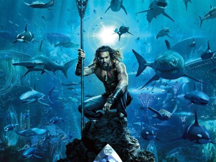 Escena de la película Aquaman con Jason Momoa como protagonista