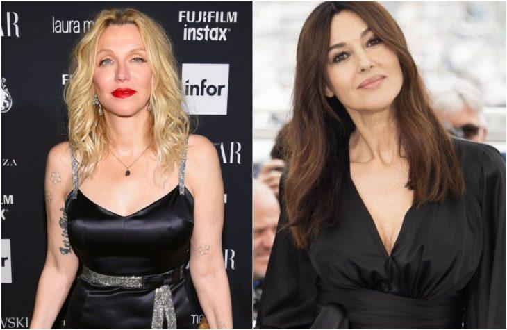 Duplas de celebridades que tienen la misma en comparación con Courtney Love y Monica Bellucci