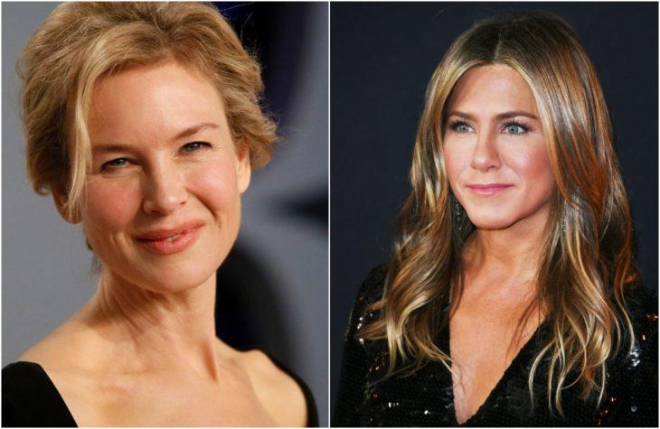 Duplas de celebridades que tienen la misma en comparación con Renee Zellweger y Jennifer Aniston