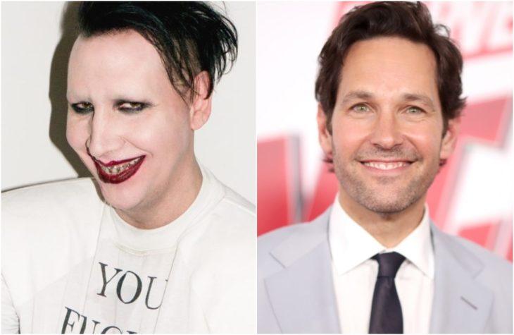 Duplas de celebridades que tienen la misma en comparación con Marilyn Manson y Paul Rudd
