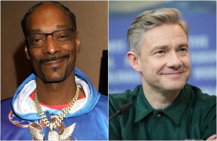 Duplas de celebridades que tienen la misma en comparación con Snopp Dogg y Martin Freeman