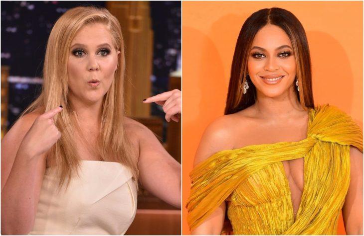 Duplas de celebridades que tienen la misma en comparación con Amy Chumer y Beyoncé